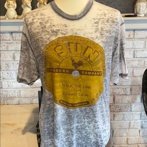 Johnny Cash authentic vintage t shirt size L
